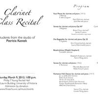 Clarinet Class Recital - Patricia Kostek