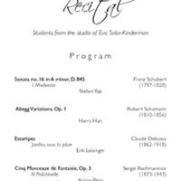 Piano Class Recital - Eva Solar-Kinderman