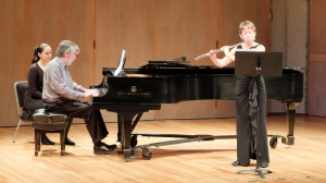 Pianist Bruce Vogt and I performing Uebayashi's beautiful Sonata for flute and piano