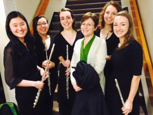 With the flute section after the February Wind Symphony concert
