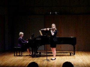 Gillian performing selection from Mel Bonis Sonata (from the studio recital, February 2015).