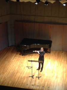 Thomas's graduating recital in March 2015, performing Passacaglia by Dohnanyi