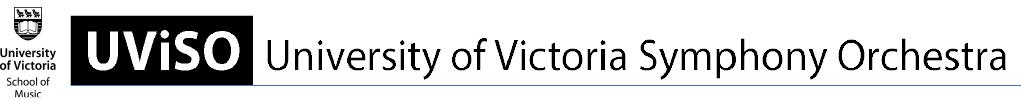UViSO - University of Victoria Symphonic Orchestra