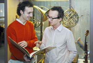 Ajtony Csaba (left) and Patrick Boyle. Photo by UVic Photo Services