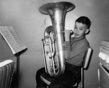 A young Eugene Dowling shows his brass