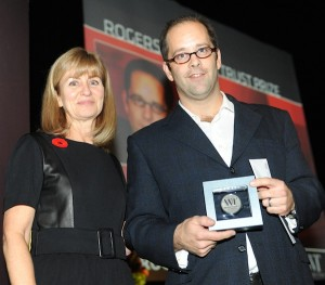 Dobozy wins the Writers Trust fiction prize (Photo: Kendall Towsend)