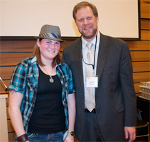 Law winning the Diversity Writing Contest in 2011