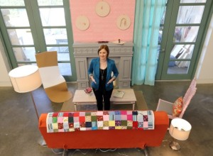 Hilary Knutson's current installation (photo: Adrian Lam, Times Colonist)