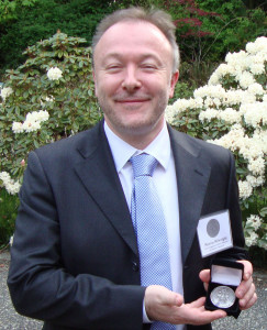 Marcus Milwright proudly displays his Craigdarroch Award