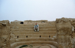Miwright in Syria, at the ancient site of Dura Europos on the banks of the Euphrates River
