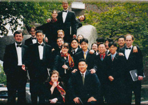 The Chamber Singers on their 1999 tour of Asia