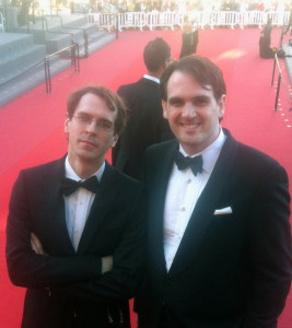 Once You Break A Knuckle author D.W. Wilson & Hogg puttin' on the ritz in Cannes