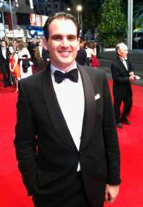 Dan Hogg on one of the many red carpets in Cannes