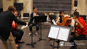 String Quartet students