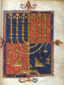 Menorah, the Duke of Sussex Catalan Bible (circa 1380)