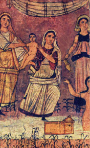 Moses in the river, Dura Europos (circa 250)