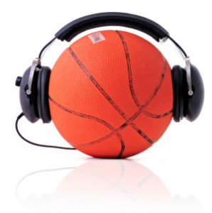 cool basketball listening music