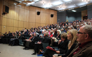 It was a full house at the Lorna Crozier event