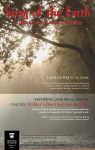 Mahler Week poster - Jan14