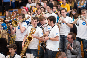 UVic's Jazz Ensemble, with Patrick Boyle tucked in the corner (photo: Armando Tura)