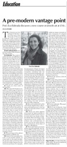 Eva Baboula's interview in The Jewish Independent