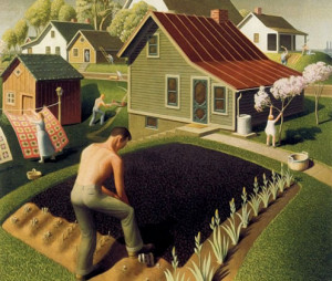 "Grant Wood, ""Spring in Town"" 1941"