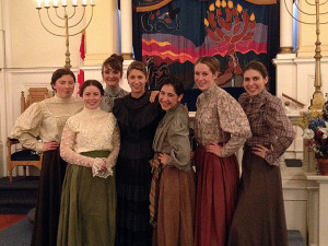 The cast of the local staging of The Girl Rabbi of the Golden West