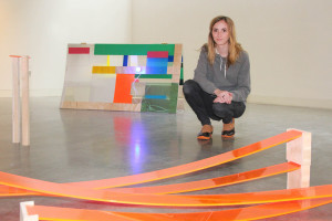 BFA student Abigail Laycock with her sculptures