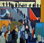 "Owen Mathieson's paintings can be seen in ""Split"""