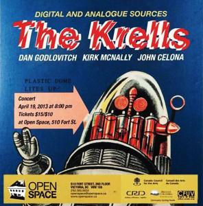 The Krells concert poster_2013