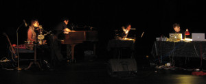 "McNally performing ""Resonant Chambers"" at New Currents Festival in 2008 (photo: Lyssa Pearson)"