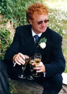 Brian at Brick Blair's wedding