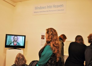 Viewers at the exhibit