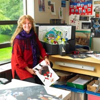 Mary Kerr in her office at UVic