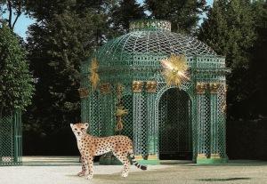 """Vikky Alexander, """"Cheetah and Pavilion at Sans Souci,"""" 2013"""
