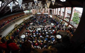Dowling leads 2014's TubaChristmas event to a packed house at Market Square (photo: Robert Davy)