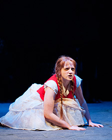 Lindsay Curl as 9-year-old Isobel in Lion in the Streets (photo: David Lowes)