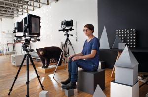 Jessica Eaton in her studio (photo: Roger LeMoyne, from Canadian Art)