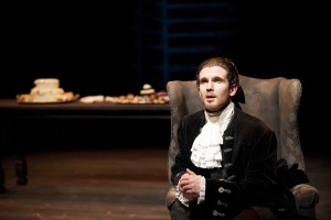 The scheming Salieri (Jenson Kerr) in Phoenix Theatre's Amadeus (photo: David Lowes)