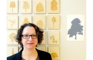 Risa Horowitz with her Trees of Canada series