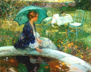 "Summer and Smoke is evoked in Richard Emil Miller's 1910 painting ""The Pool"""