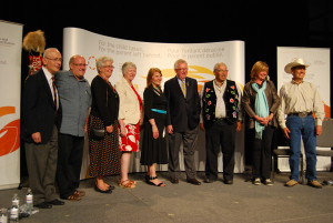 Rogers (second from right) at the Truth & Reconciliation Hearings