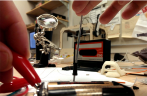 Materials for making a small solenoid (photo: Maker Lab)