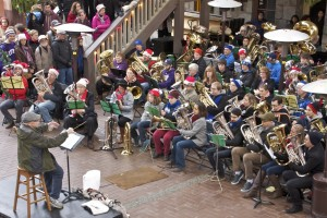Dowling leading his final TubaChristmas event in 2014