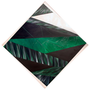 "Harvey's ""Black Diamond #3"" (1979, oil on canvas), courtesy Legacy Galleries"
