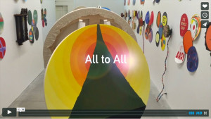 Watch this video of Sandra Meigs' latest solo exhibit, All to All
