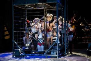 The ensemble cast of Phoenix Theatre's The Threepenny Opera (photo: David Lowes)