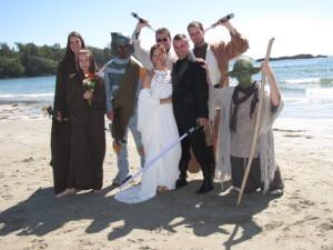 David Christopher's Star Wars-themed wedding