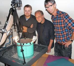 Iwanicki (left) with Haman and Taylor
