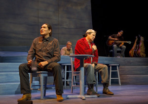A scene from Leyshon's production of Where the Blood Mixes
